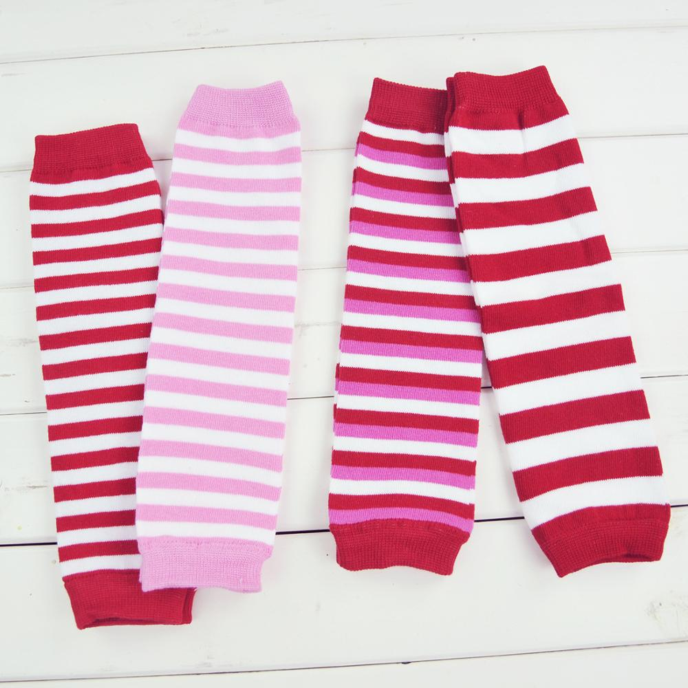 Baby Leg Warmers Girl Cotton Socks Children Rainbow Striped Crawling Knee Pads Colorful Knitted Leggings Winter Soft Sock