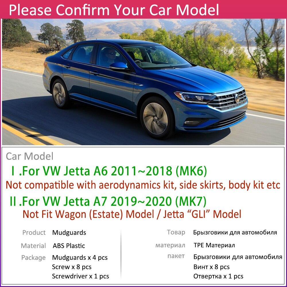 Для Volkswagen VW Jetta A6 A7 5C6 Mk6 MK7 6 7 2011 ~ 2020 крыло грязи брызговик ЛОСКУТ аксессуары для брызговиков 2012 2015 2018 2019-2