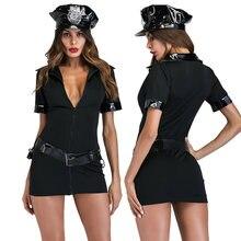 Сексуальный женский полицейский Униформа костюм для взрослых