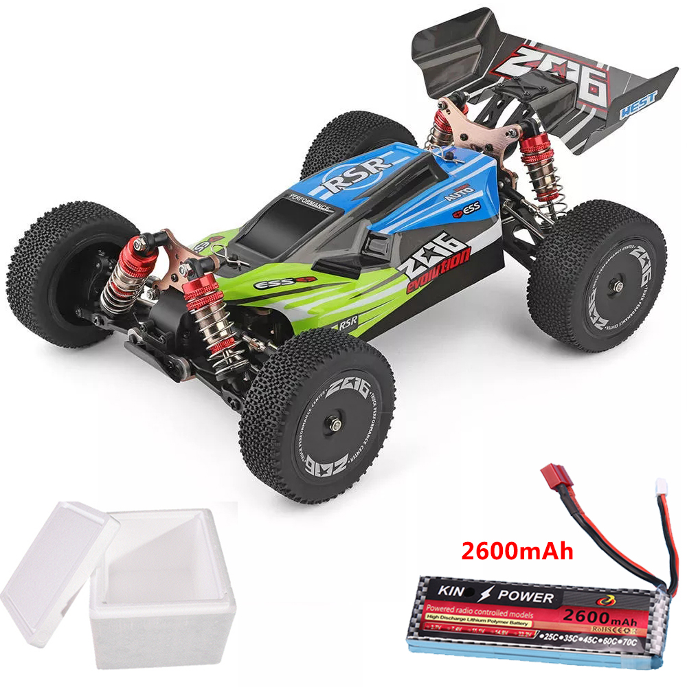 Wltoys 144001 1/14 2.4G 4WD High Speed Racing RC Car Vehicle Models 60km/h Upgrade Battery 7.4V 2600mAh