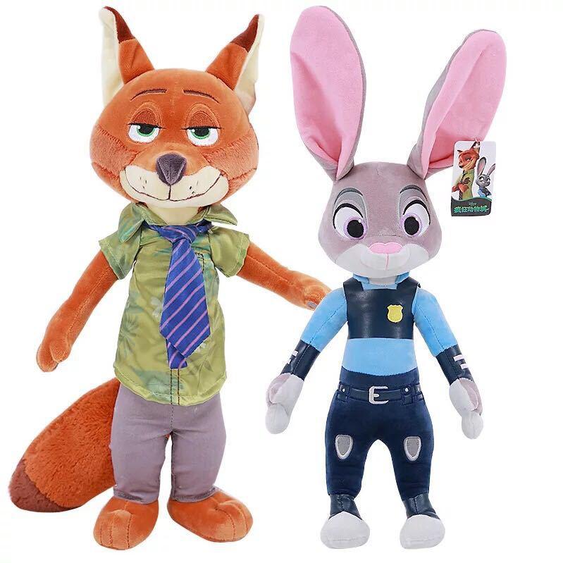 2pcs/lot 40cm Movie Zootopia Plush Toy Cute Zootopia Rabbit Judy Hopps Plush Toys Doll Soft Stuffed Animals Toys Children Gift