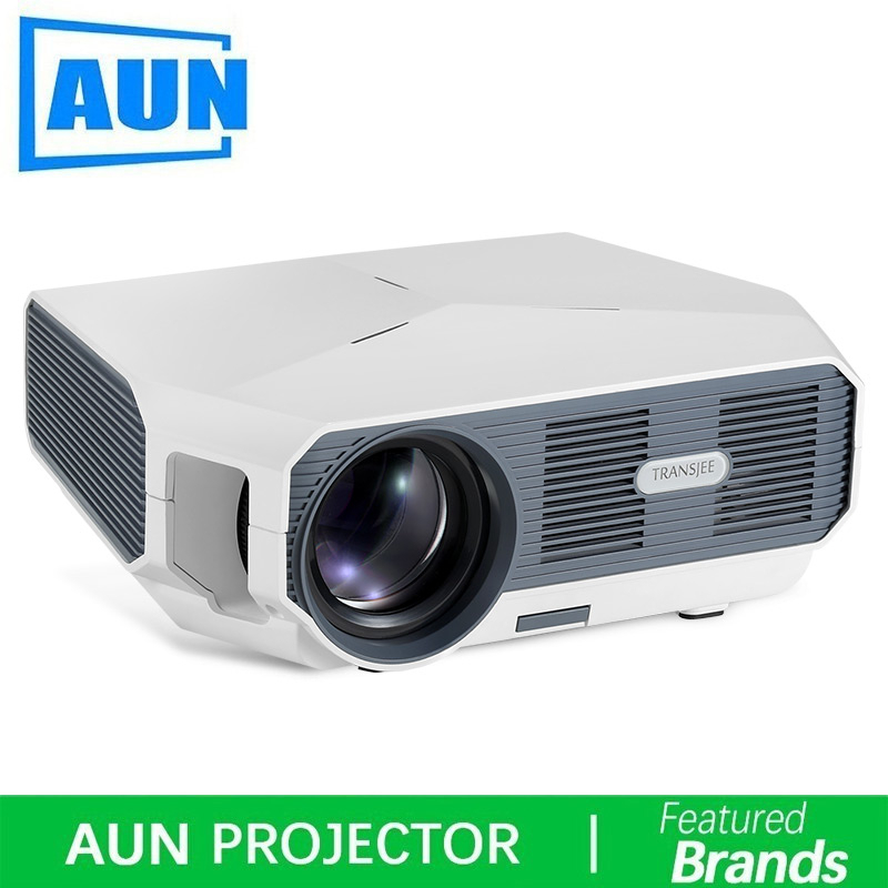AUN LED Projector ET 1280x720P 3500 lumen Mini Projector for 1080P 3D Home Cinema HDMI video