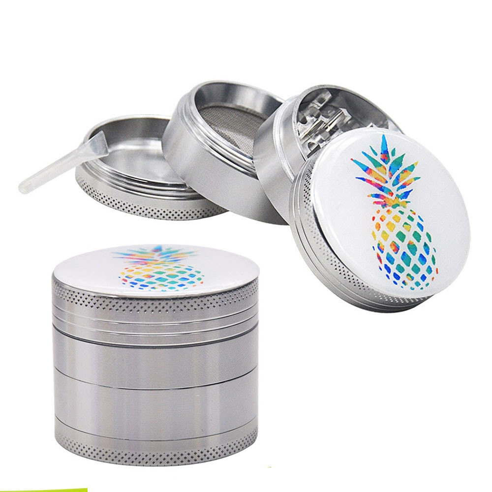 Balight 40mm Tobacco Grinder Colorful Rainbow Dazzle Metal 4 Layer Crusher Smoke Mill Spice Crusher