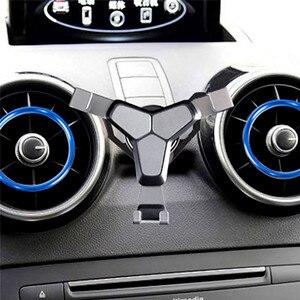 Image 3 - Автомобильный держатель для телефона с креплением на решетку вентиляции для Audi A1 A3 Универсальный гравитационный кронштейн для iphone Android