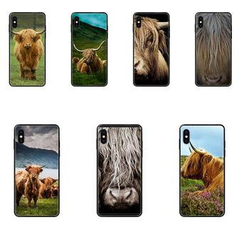 TPU Popular Hot Highland Cow For Galaxy A5 A6 A7 A8 A10 A10S A20 A20S A20E A21S A30 A30S A40 A50 A70 A71 A70E image