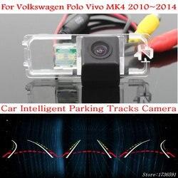 Ludmiła samochodowa inteligentna kamera parkingowa dla Volkswagen Polo Vivo MK4 2010 ~ 2014 HD CCD samochodowa kamera cofania w Kamery pojazdowe od Samochody i motocykle na