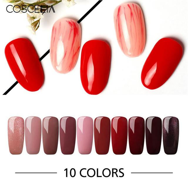 COSCELIA UV Gel Nail Polish All For Manicure Set Nail Gel Set Soak off Varnish Nail Kits For Nails Art Kit For Nails Manicure