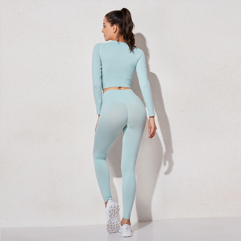 High Waist Sports Legging Gym Women's sportswear Seamless Fitness Women Yoga Suit High Stretchy Workout Set Padded Sports Bra