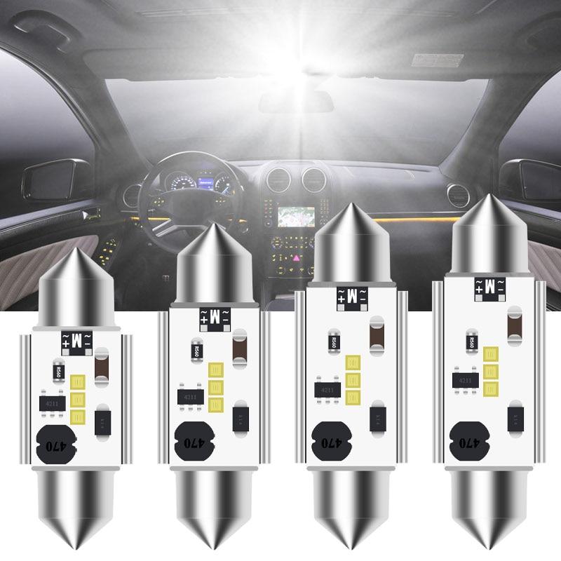 1 шт. CANBUS C5W гирлянда 12V-24V Автомобильный светодиодный новый CSP лампы 31 мм, 36 мм/39 мм/41 мм интерьер автомобиля купольная лампа номерные знаки для...