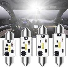 1pc canbus c5w festoon 12v-24v carro led novo csp blub 31mm 36mm 39mm 41mm interior do carro lâmpada dome luz de leitura da placa de licença branco