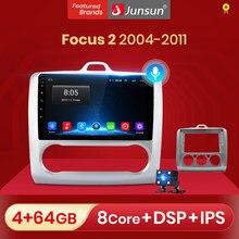 Junsun V1 Android 10.0 AI commande vocale pour ford focus 2 Mk2 2004-2011 autoradio multimédia lecteur vidéo Navigation 2 din dvd