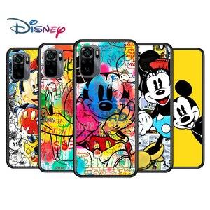 Image 1 - Mickey and Minnie cute for Xiaomi Redmi Note 10 10S 9 9T 9S 9Pro Max 8T 8Pro 8 7 6 5 Pro 5A 4X 4 Soft Black Phone Case
