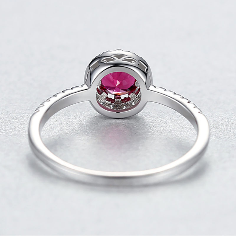 H70ab96f21baf4d0cb9c4064f98e351b41 Jellystory 925 Sterling Silver Ring Creative Ruby Rings for Female Wedding Party Round Red Gemstone Ring Jewellery Gift size 6-9