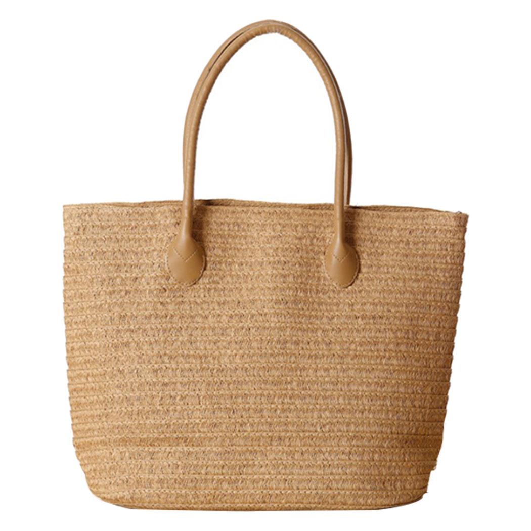 Women Handbag Summer Beach Bag Rattan Woven Handmade Knitted Straw Large Capacity Totes Women Shoulder Bag Bohemia 2019 New
