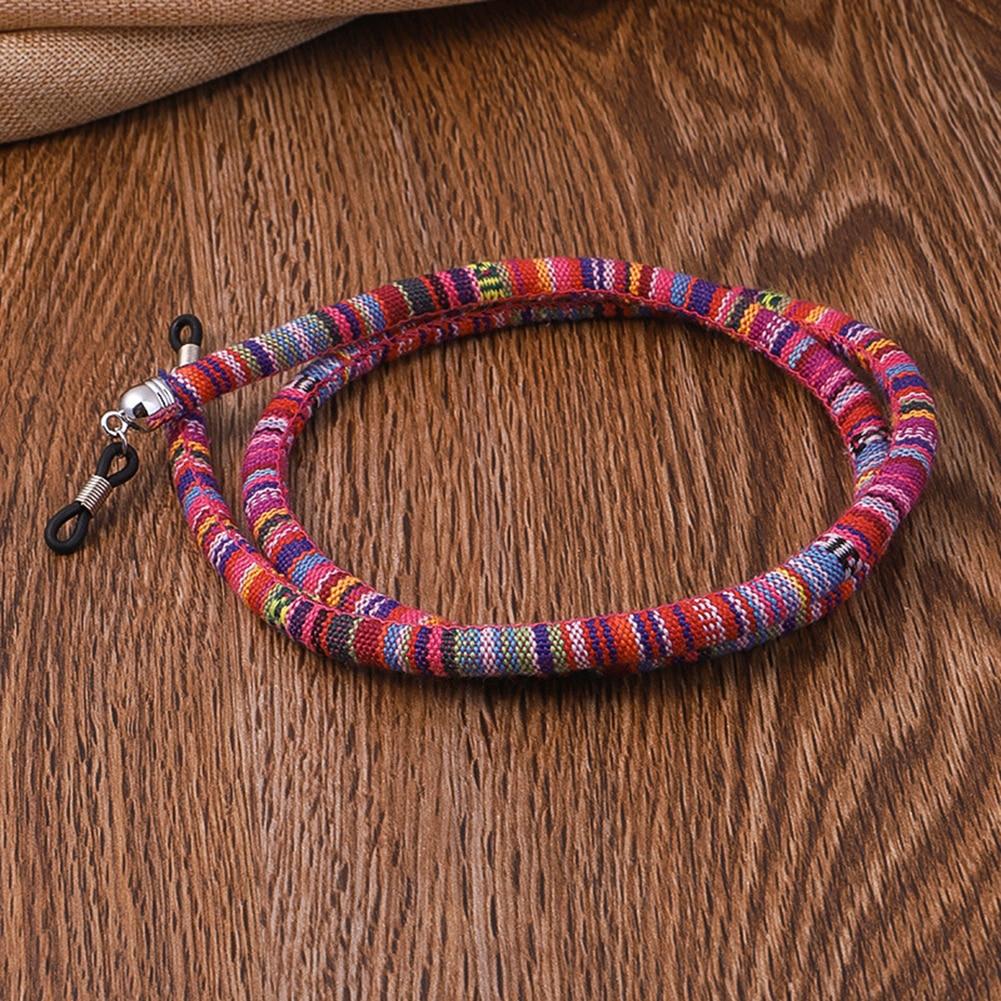 DIY Этническая плетеная цепочка для очков Веревка шнурок для очков ремешок для очков Солнцезащитные очки шейный шнур цепочка для солнцезащи...