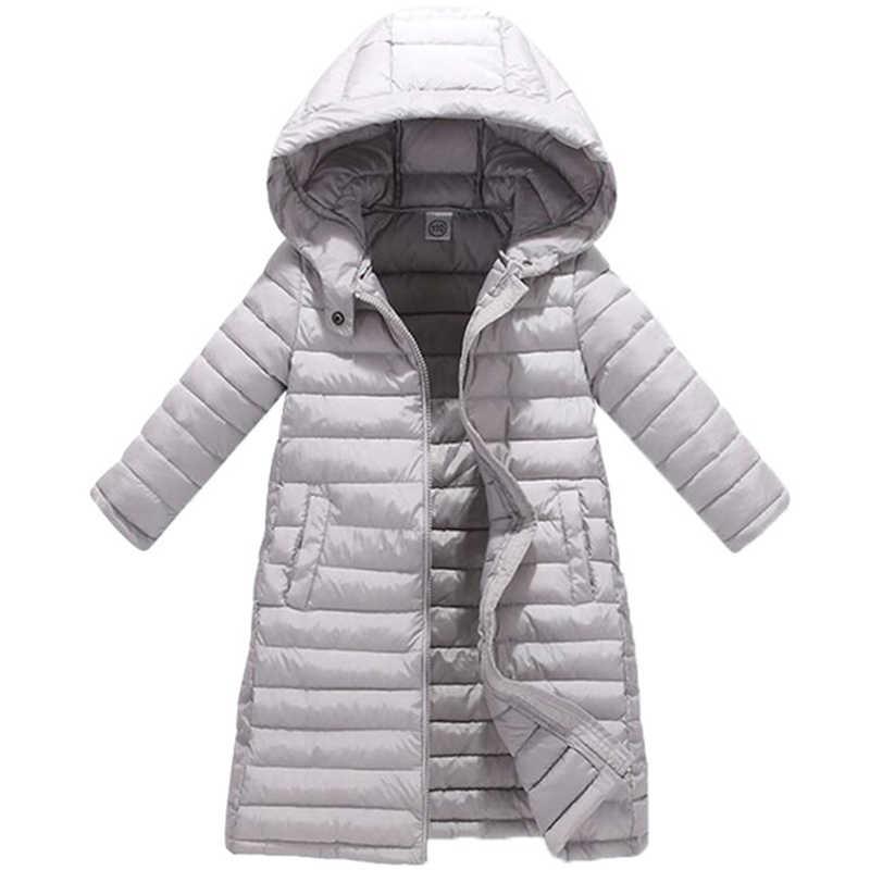 Детская куртка для девочек 2018 г., осенне-зимняя куртка для девочек, пальто теплая верхняя одежда с капюшоном для малышей, пальто Одежда для девочек детские пуховики