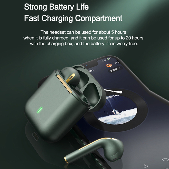 New TWS Bluetooth Headphones Stereo True Wireless Headphone Earbuds In Ear Handsfree Earphones Ear Buds For Mobile Phone 2
