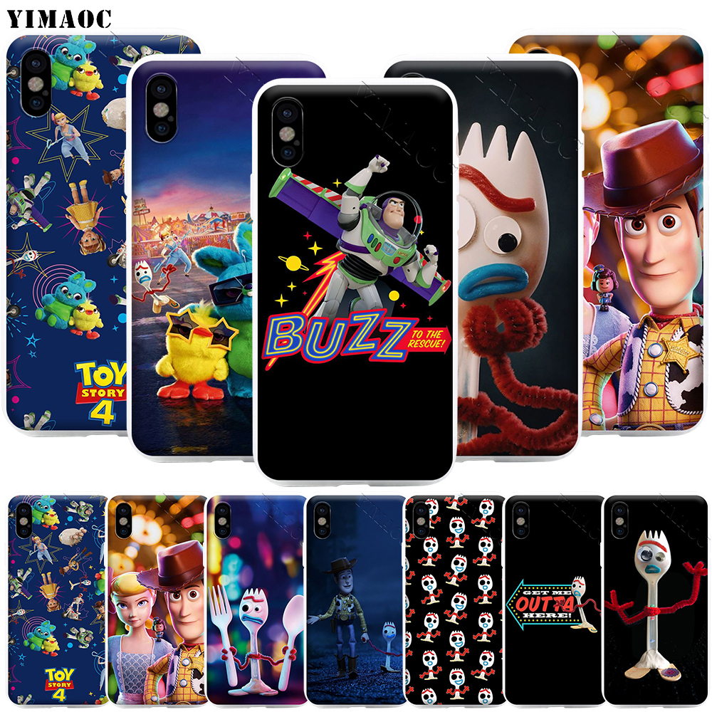 YIMAOC Forky I'm Trash <font><b>Toy</b></font> <font><b>Story</b></font> Phone Case for <font><b>iPhone</b></font> 11 Pro XS X <font><b>XR</b></font> Max 8 7 6 6S Plus SE 5S image