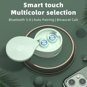 Беспроводные наушники Bluetooth 5,0 с микрофоном, Hi-Fi наушники, водонепроницаемые спортивные наушники-вкладыши, стерео гарнитура, мини-наушники