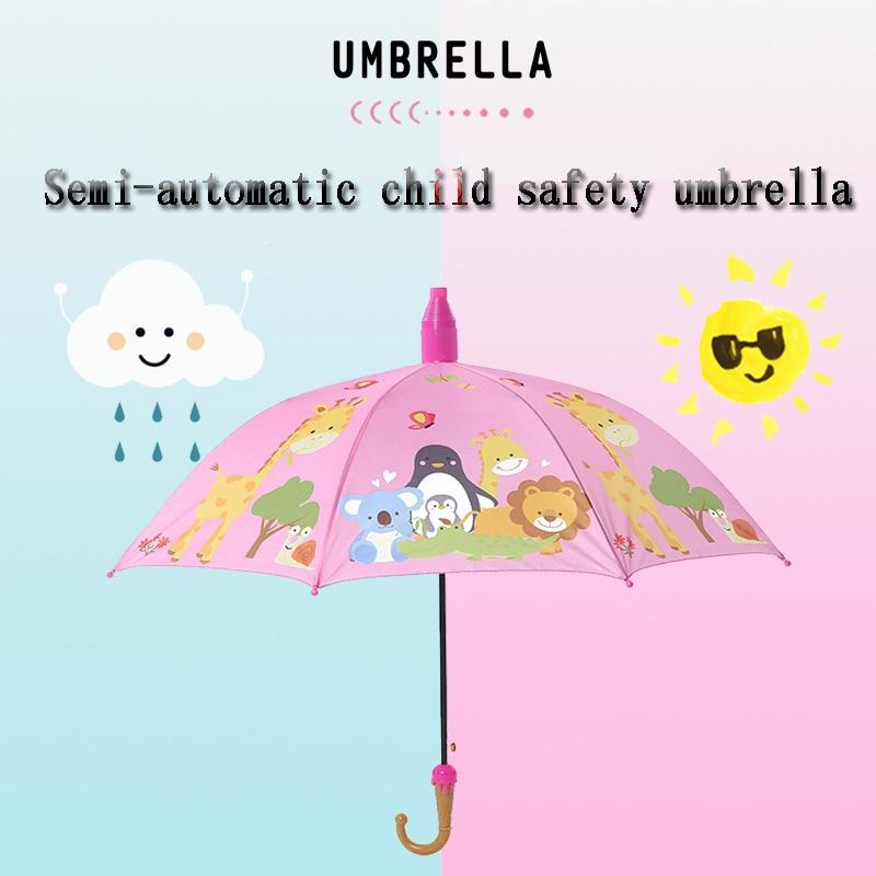 Fashion Child Safety Umbrella Children Cartoon Print Umbrella Children Sun Umbrella Boy Girl Umbrella 8k Windproof Umbrella Umbrellas Aliexpress