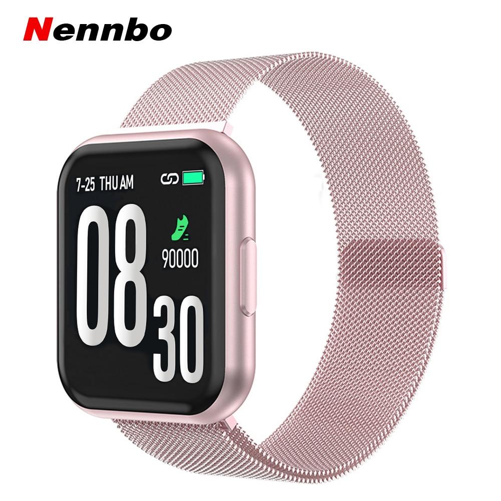 New T88 Smart Watch Full Screen Touch Women Men Smartwatch Waterproof Sports Tracker Heart Rate Blood Pressure Measurement Watch