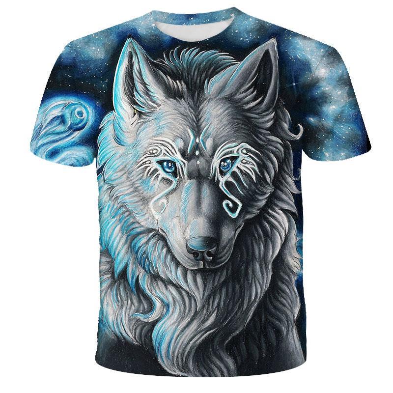Lovers Wolf Printed T shirts Men 3d T-shirts Drop Ship Top Tee Short Sleeve Camiseta Round Neck Tshirt Fashion Casual Brand 6