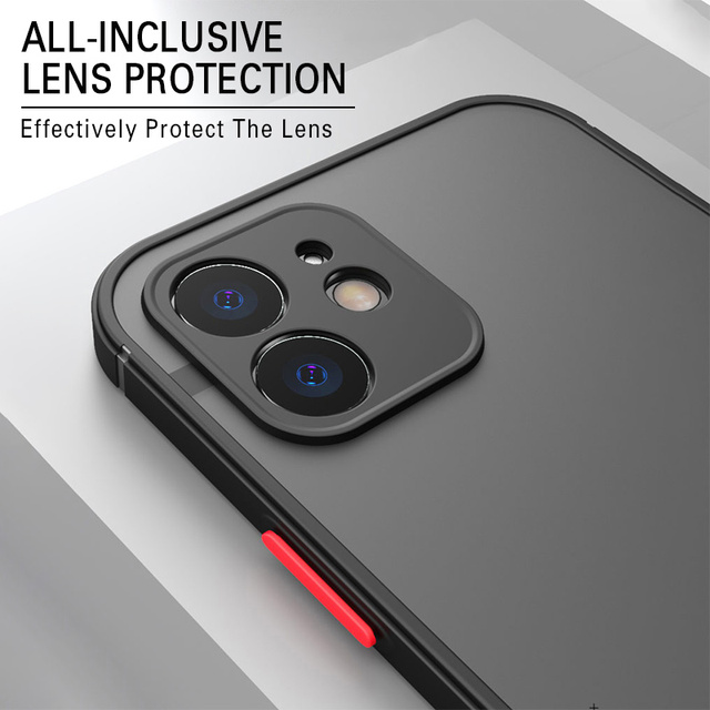 Luxury Silicone Shockproof Matte Phone Case For iPhone 11 12 Pro Max Mini X XS XR 7 8 Plus SE 2020 Ultra Thin Transparent Cover 5