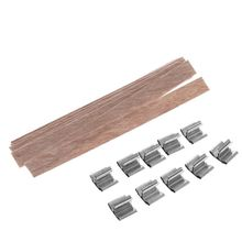 50pcs 8mm Wooden Wick Candle Core Sustainer Tab DIY for Candles Making Soy Wax R9UC