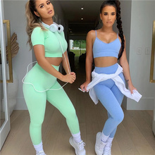 Yoga Fitness Suit 2021 New Seamless Clothing Workout Clothes For Women Tracksuit Gym Set High Waist Sport Outfit
