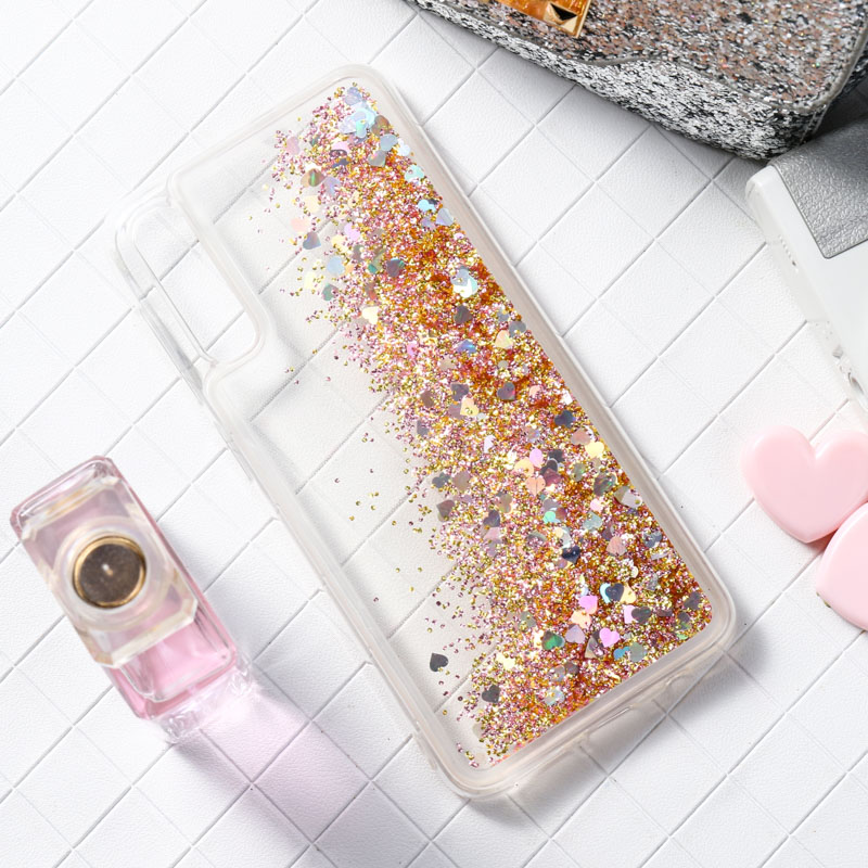 Cute Flower Liquid Case For <font><b>Samsung</b></font> J6 2018 Case Glitter Silicone Cover For <font><b>Samsung</b></font> J5 <font><b>2017</b></font> J7 <font><b>J3</b></font> J4 Plus 2018 A50 A40 A70 Cases image