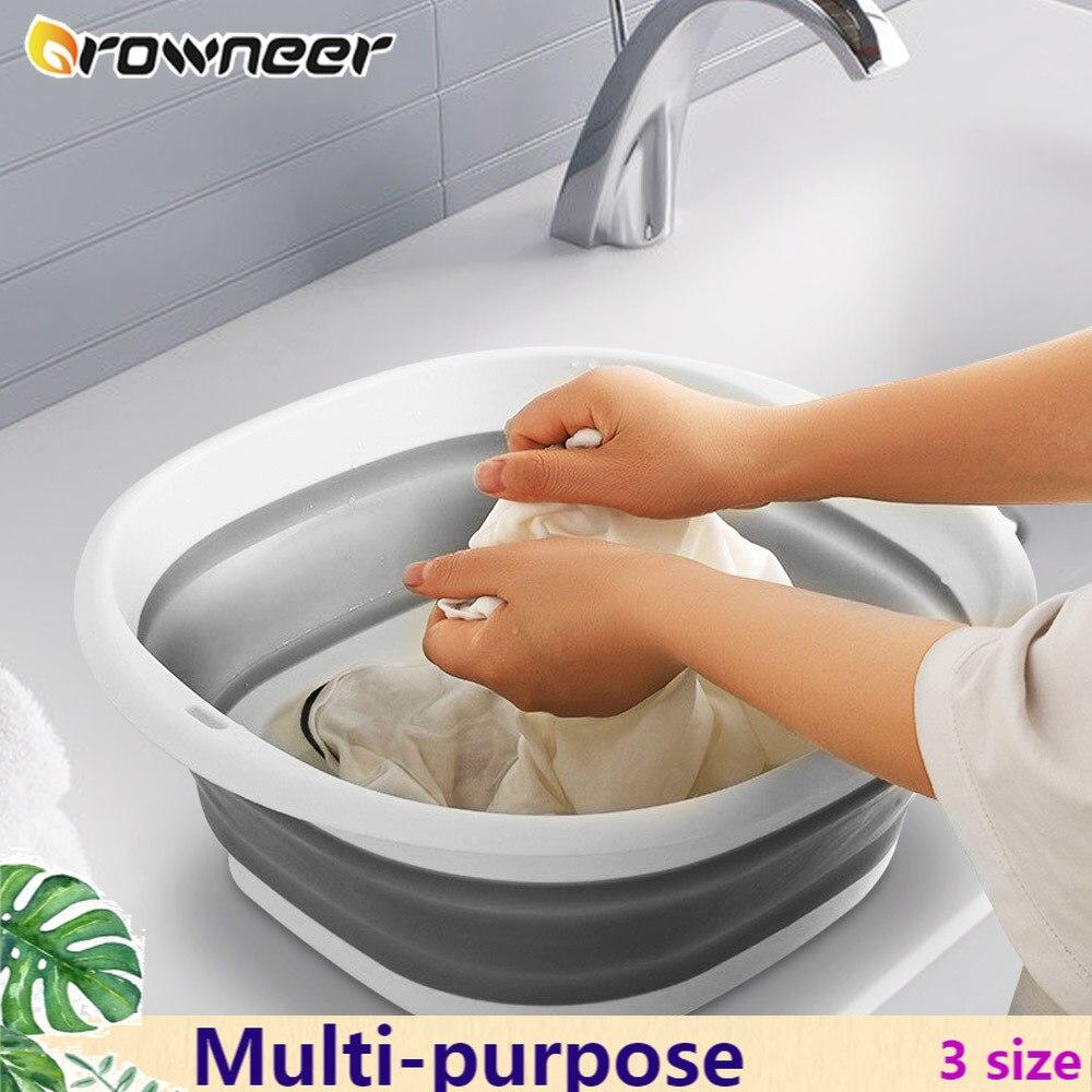 Многофункциональная складная раковина 3 размера, портативная легкая подвесная Складная посуда, инструмент для путешествий, пешего туризма,...