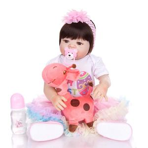 Image 3 - KEIUMI New Arrival Toy Reborn Baby Dolls Full Silicone Vinyl Body Lifelike 23 Inch Babies Dolls Girl Birthday Gift For Sale