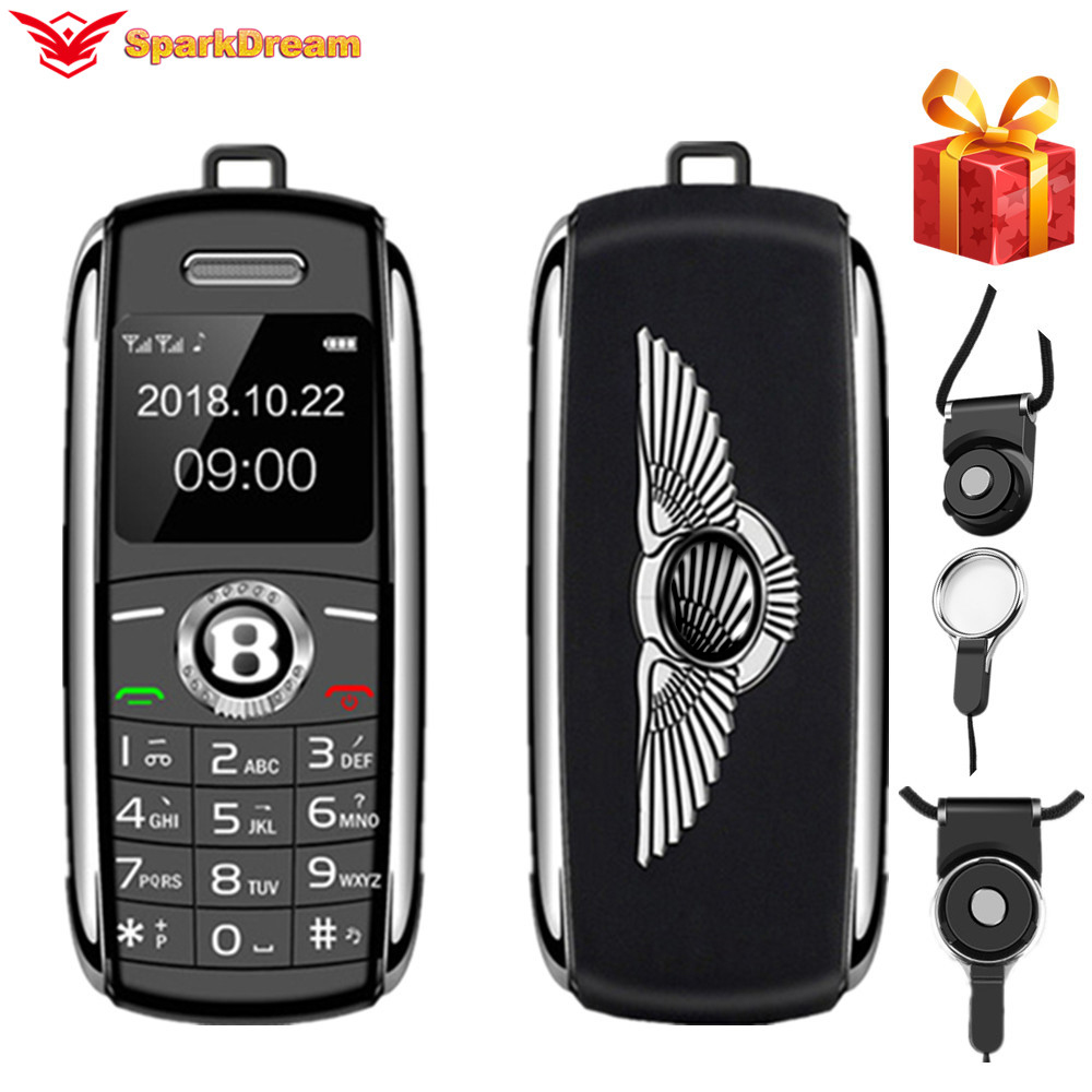 Unlocked Mini Mobile Phone Bluetooth Dialer 0.66 Inch With Hands Mini Telephone MP3 Magic Voice Dual Sim Smallest Cell Phone