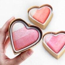 Regenbogen Süße Herz Augen Make-Up Glitter Lidschatten Shimmer Glanz Schatten Pulver Lidschatten