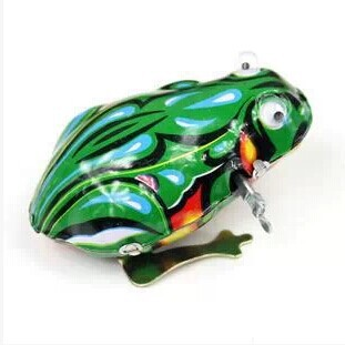 Live Eye Leapfrog Algam Leap Frog Wind-up Toy Algam Spring Live Eye Frog Retro Toy Wholesale