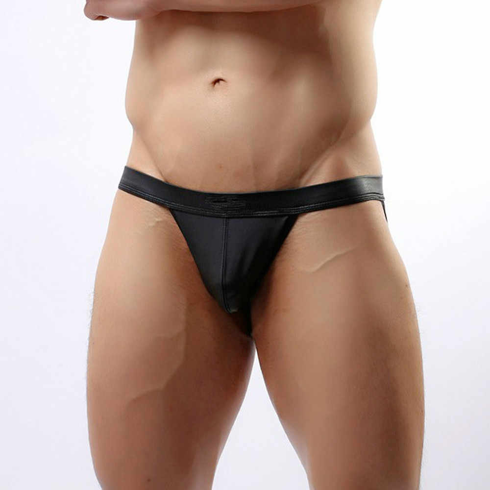 Sexy Lingerie Hot Koop Slipje Calvin Shapewear Hot Sexy heren Thongs G-string Ondergoed Leather Jockstrap Zwembroek Lenceria # N20