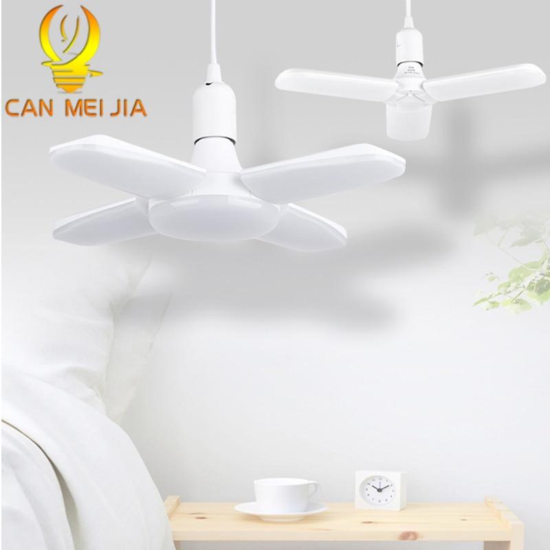 Led Bulb E27 220V LED Lamp 30W 40W 45W 60W Leds Light Bulbs Foldable Fan Blade Lamp Adjustable For Home Garage Ceiling Lighting