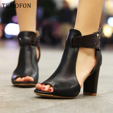 TEMOFON plus size pumps women high heel shoes ladies female