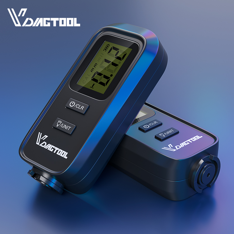 VDIAGTOOL VC-100 Car Thickness Gauge Meter Digital Paint Films For Car Paint Tester LCD Backlight Th