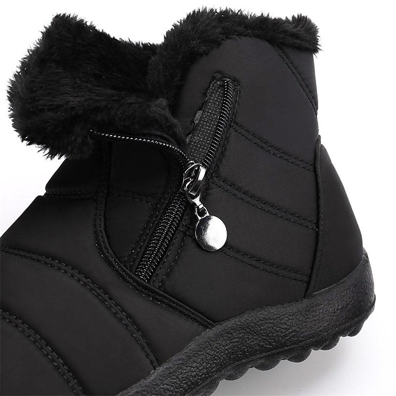 Women boots 2019 warm Plush Ladies waterproof ankle boots