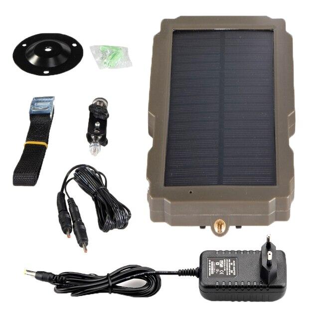 5000mA  12V Hunting Camera Solar Panel  Power Supply Charger Battery for Suntek 9V  HC900 HC801 HC700 HC550 HC300 Series 6