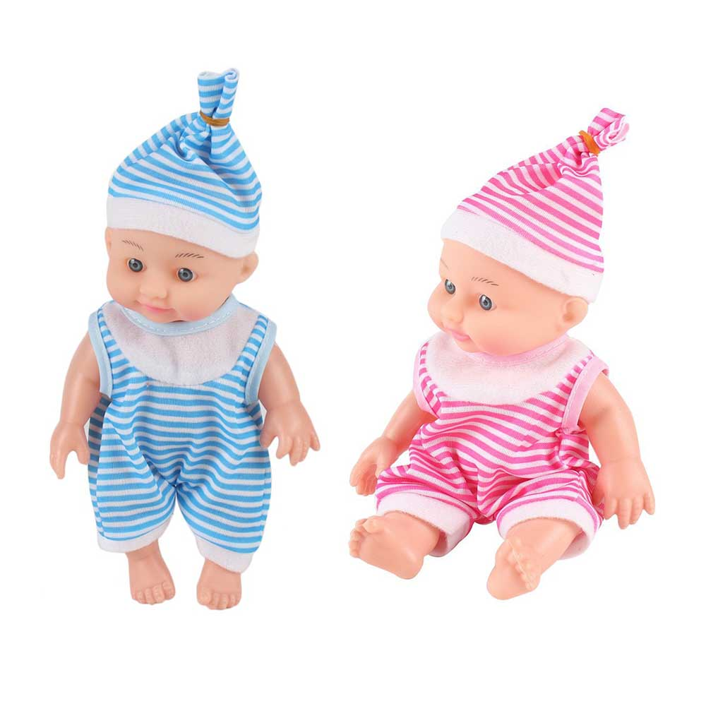 Simulated Cute Baby Soft Silicone Body Dressing Cloth Doll Realistic Newborn Doll Parenting Toy For Kids Educational Toy Gift