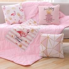 Cute Flamingo Plush Pillows Soft Toy Stuffed Animal Cartoon Children Gift Home Sofa Decoration Party Christmas Kawaii