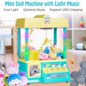 Dla dzieci zabawki dla dzieci gospodarstwa domowego lalka z klipsem monety Mini małe Grab maszyna do lalek z lalki monety najlepszy prezent dla dziecka tanie i dobre opinie DOYOQI 56845 2-4 lat 5-7 lat 8 ~ 13 Lat Muzyka