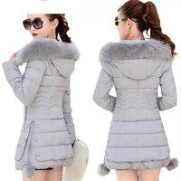 Big fur collar Parkas Women Down Jacket Plus Size Womens Parkas Thicken Outerwear hooded Winter Coat Female Jacket Cotton padded