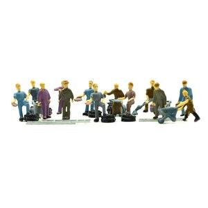 Модель железной дороги HO, художник 2,2 см, игрушка с лестницы и миниатюрным диорамой, инструмент для создания сценической компоновки, 25 шт., цветной