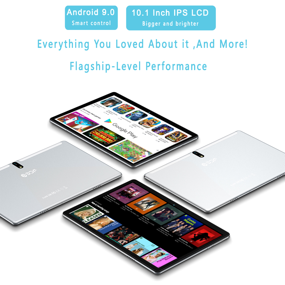 New Tablet Pc 10.1 Inch Android 9.0 Tablets Octa Core Google Play 3G 4G LTE Phone Call GPS WiFi Bluetooth 10 Inch Glass Panel 3