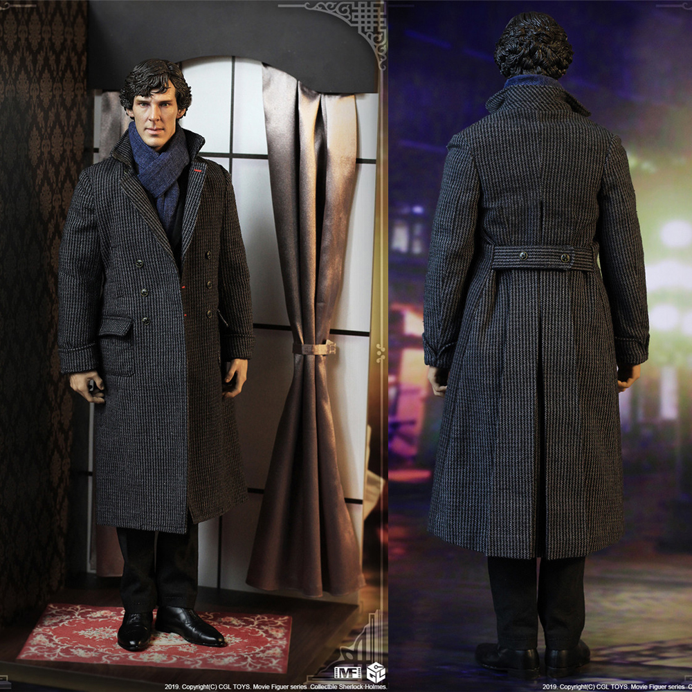"""CGLTOYS MF16 1/6 Detective Sherlock Holmes """"Curly Fu"""" and """"Peanut"""" 12 inch Action Figure Doll Toy Collectibles"""