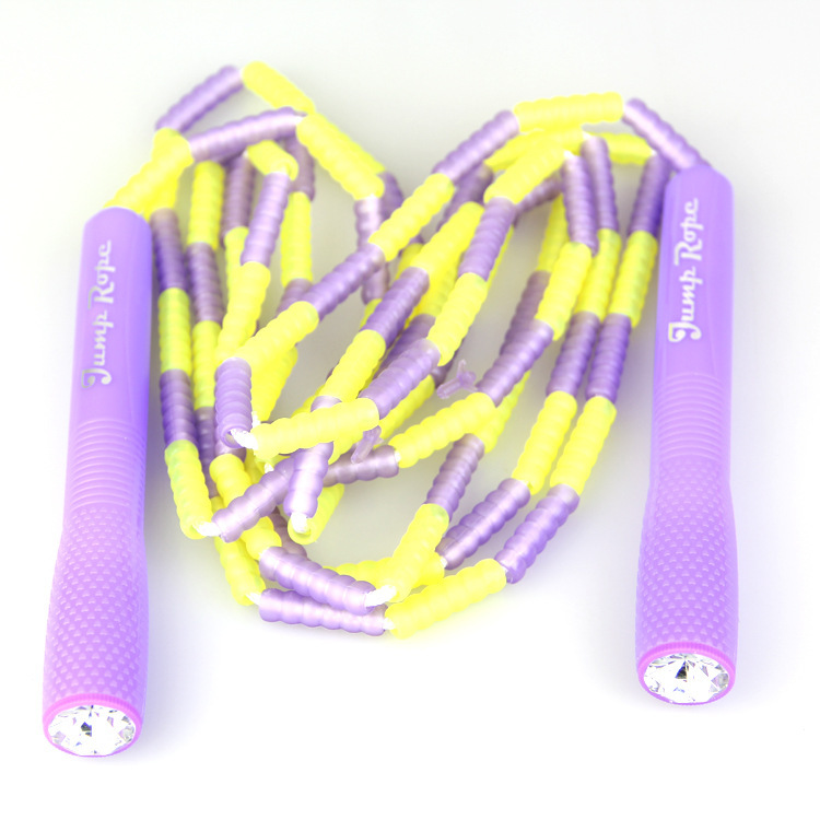 Healthy Beauty Up To Students Standard Test Only Jump Rope Colorful Children Jump Rope Pattern Jump Rope Soft Bamboo Joint Jump