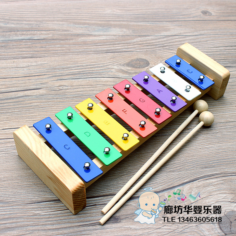 Orff Children'S Educational Toy Baby Octave Knock Piano Intonation Profession Aluminium Plate Qin Da 8 Sound Dulcimer